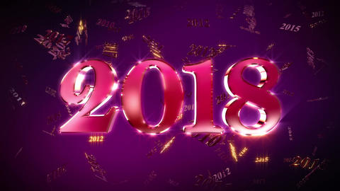 New Year 2018 Animation Loopable Background Animation