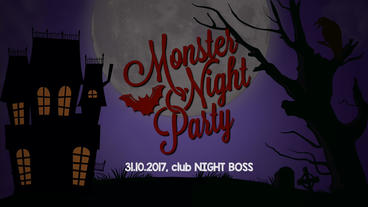 Halloween night club promo 2 Plantilla de Apple Motion