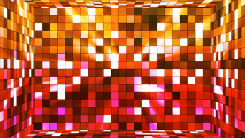 Broadcast Twinkling Hi-Tech Squares Room, Multi Color, Abstract, Loopable, 4K Animation