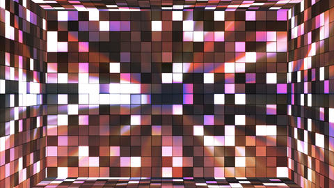 Broadcast Twinkling Hi-Tech Squares Room, Brown, Abstract, Loopable, 4K Animation