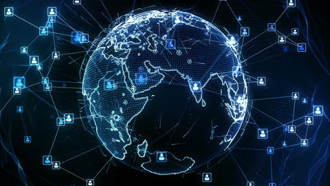 Global network connections. Connecting people around the… Stock Video Footage