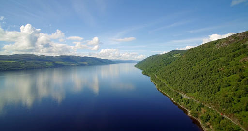 Aerial, The Mighty Loch Ness, Scotland - Graded Version Footage
