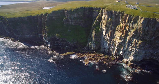 Aerial, Dunnet Head Coastline, Scotland - Graded Version 画像