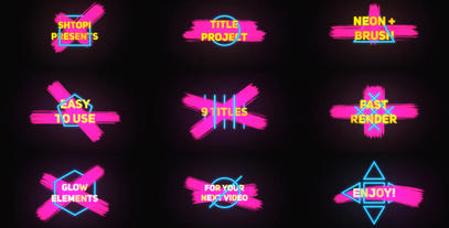 Neon Brush Titles After Effects Template