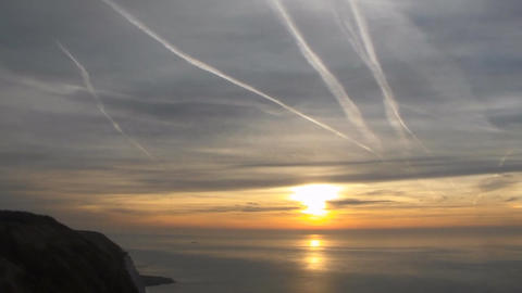 accelerated sunrise from sea. English channel. Timelapse Image