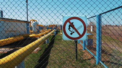 Oil refining and gas industry. A station for cleaning, transporting and storing Footage