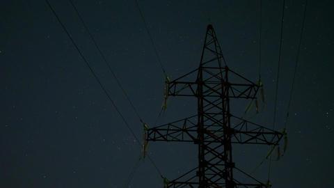 Night sky of stars timelapse Footage