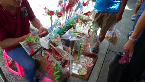 Thai candy carve shop Filmmaterial