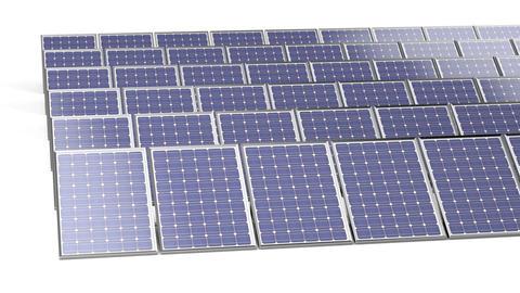 Group of solar panels Animación
