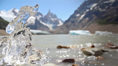 Melting Ice On Cerro Torre Lake Image