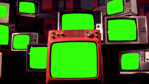 OLD GREEN SCREEN TV DIFFERENT TONES COLLECTION