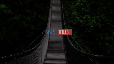 Minimal Titles Plantilla de After Effects