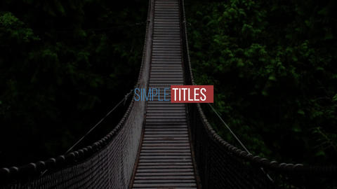 Minimal Titles After Effects Template