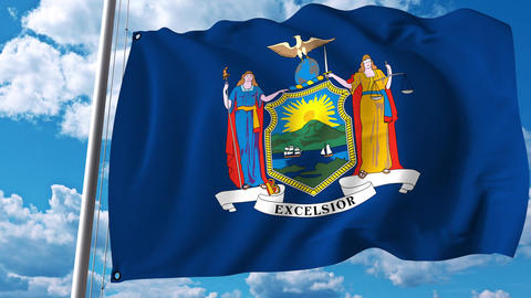 Waving flag the State of New York Archivo