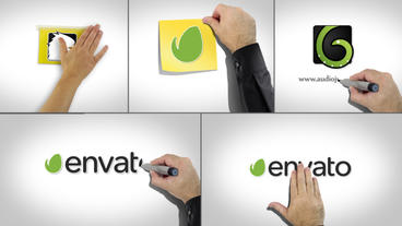 Whiteboard Logo Pack After Effects Templates