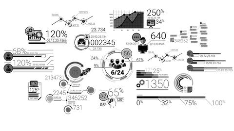 Business Infographics Elements With Alpha Channel Animación