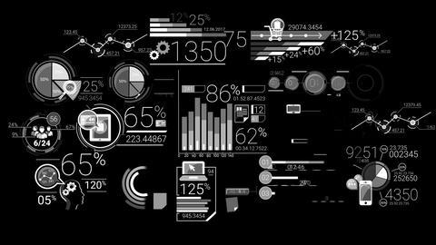 Business Infographics Elements Animación