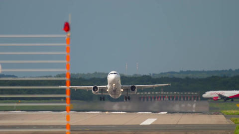 Airplane airbus 320 take-off Footage