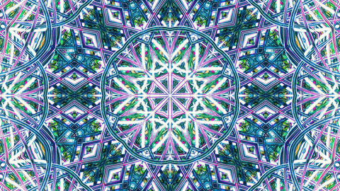Colorful Kaleidoscopic Background. Kaleidoscopic loopable patterns Animation