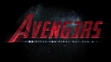 Avengers 3D Title Plantilla de Apple Motion
