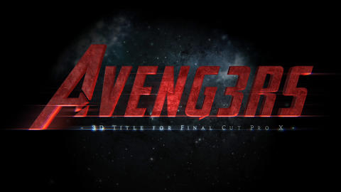 Avengers 3D Title Apple Motion Template