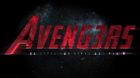 Avengers 3D Title Apple Motionテンプレート