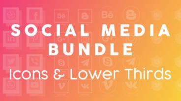 Social Icons & Thirds Bundle Plantilla de After Effects