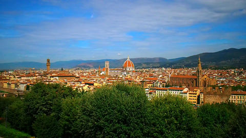 panorama of the city of Florence Footage