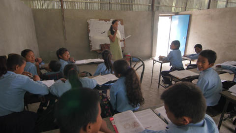 School classroom in Nepal after the earthquake Live Action