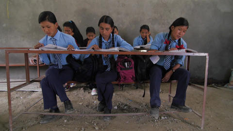 School classroom in Nepal after the earthquake Footage