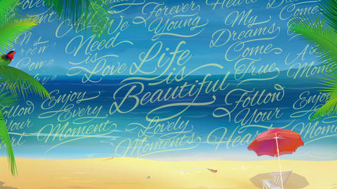 Sunny Beach Background Footage