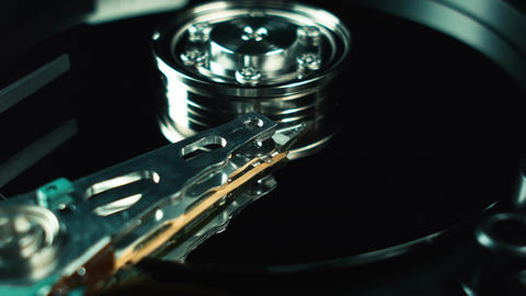 Computer techologies. Hdd, hard drive. Storage of digital data in the computer Live Action