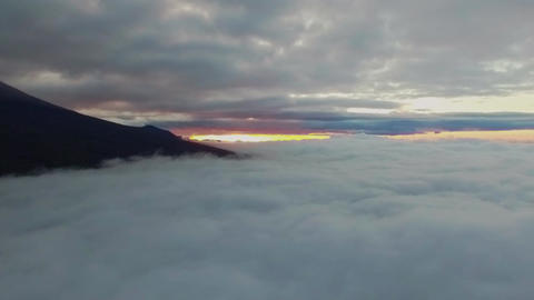 Aerial video in a sea of cloud ( rise upturn ascend ) Footage