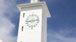 Bermuda capital Hamilton bronze wind direction indicator at city hall tower Footage