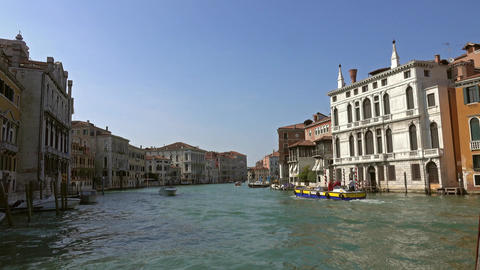 Grand canal in Venice, Italy Footage