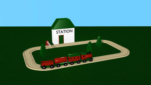 Wooden Railway Animation