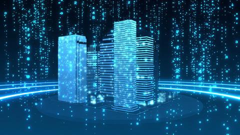 SHA Blue City Cyber BG Image Animation