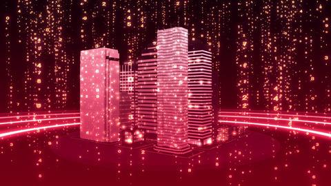 SHA Pink City Cyber BG Image Animation