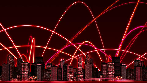 SHA Red Business Image BG CG動画