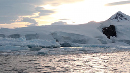 Floating over Antarctica Ice Footage