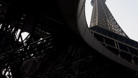 The Eiffel Tower in Paris. France Live Action