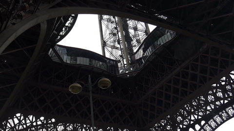 The Eiffel Tower in Paris. France Footage