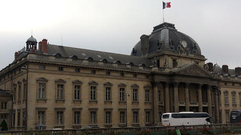 The Ecole Militaire (Military School) in Paris. France Footage