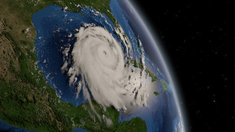 Hurricane Moving From Space ISS stock footage