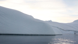 Sail in Antarctica ice water Footage