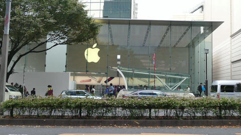 Apple Store Shop People Shopping In Tokyo Japan Asia Stock Video Footage