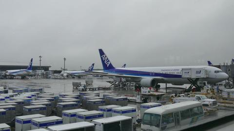 Airplane Plane Japanese Terminal Narita International Airport Tokyo Japan Asia ビデオ