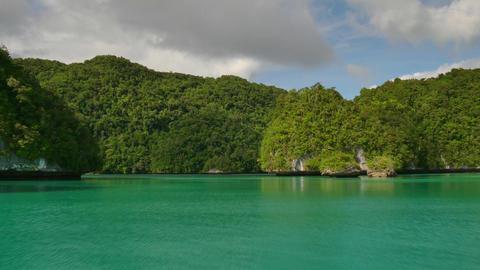 Palau Blue Water Turquoise Lagoon Tropics Island Atoll Travel Sea Footage