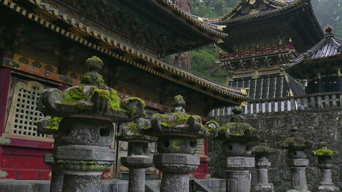 Temple Toshogu Shrine Pagoda Religious Japanese Building Monument Nikko Japan Footage