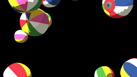 Japanese Paper Balloons On Black Background CG動画